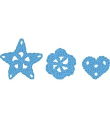 Marianne Design Stamping and Embossing stencil, Marianne Design, Motif: Flowers gehäckelte