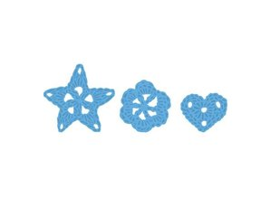 Marianne Design Stempling og prægning stencil, Marianne Design, motiv: Blomster gehäckelte