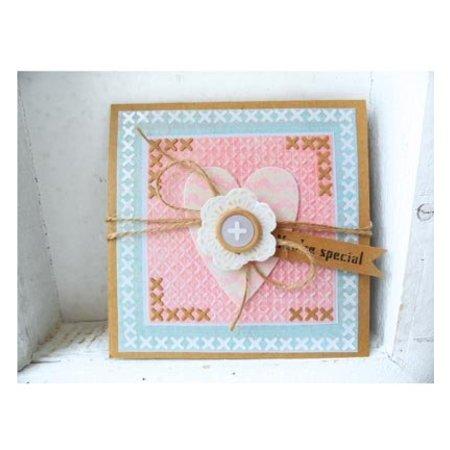 Marianne Design Estampación y Repujado plantilla, Marianne Diseño, Motif: Flores gehäckelte