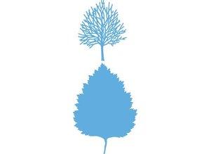 Marianne Design Stampaggio e goffratura stencil, Marianne Design, Designer: Albero + profilo dell'albero