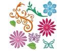 Spellbinders und Rayher Spellbinders stamping and embossing stencil, metal stencil Shapeabilities