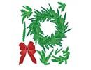 Spellbinders und Rayher Stampaggio e goffratura stencil, Corona di Natale