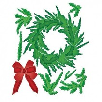 Stamping and Embossing stencil, Christmas wreath
