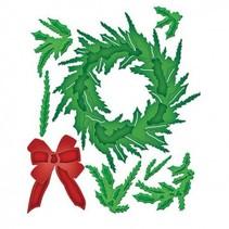 Stempling og prægning stencil, jul krans