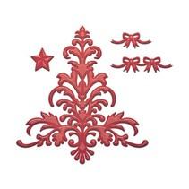 Stempling og prægning stencil, jul motiv