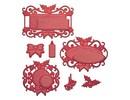 Spellbinders und Rayher Stempling og prægning stencil
