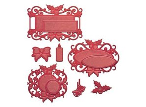 Spellbinders und Rayher Stamping and embossing stencil