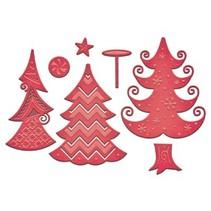 Stanz- und Prägeschablone, Weihnachtsmotiv