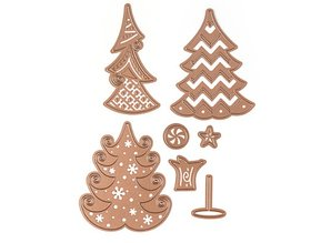 Spellbinders und Rayher Stamping and Embossing stencil, Christmas motive