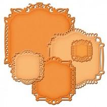 Spellbinders Stempling og Embossing stencil, Spellbinders nestabilities, Elegant dekorativ ramme