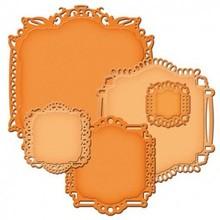 Spellbinders und Rayher Spellbinders Stempling og Embossing stencil, Spellbinders nestabilities, Elegant dekorativ ramme