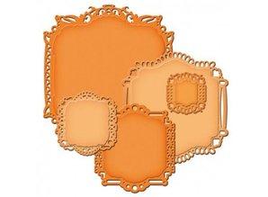 Spellbinders und Rayher Spellbinders Stamping and Embossing stencil, Spellbinders nestabilities, Elegant decorative frame