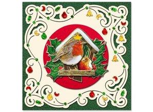 Exlusiv Fortrykte billeder og prægede klistermærker, til 8 3D julekort