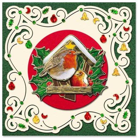 Exlusiv Vorgedruckte Bilder und geprägte Sticker, für 8 3D Weihnachtskarten