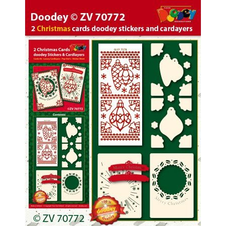 Exlusiv Bastelset with card layouts and embossed sticker