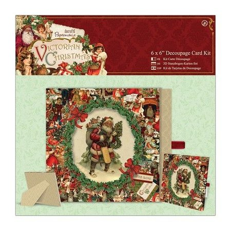 Exlusiv 3D-Stanzbogen, Bastelset: Victorian Christmas