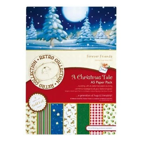 Forever Friends Designersblock, A5, Foiled Paper Pack, A Christmas Tale