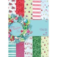 DESIGNER BLÖCKE  / DESIGNER PAPER Designersblock, A4 Paper Pack, Ved juletid Lucy Cromwell