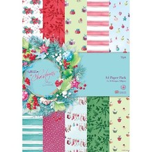 DESIGNER BLÖCKE  / DESIGNER PAPER Designersblock, A4 Paper Pack, At Christmas Lucy Cromwell