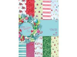 DESIGNER BLÖCKE  / DESIGNER PAPER Designersblock, A4 Papel Pack, En Navidad Lucy Cromwell
