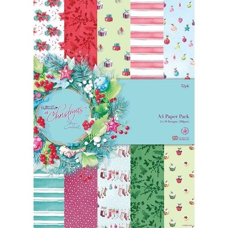 DESIGNER BLÖCKE  / DESIGNER PAPER Designerblock, A4 Paper Pack, At Christmas Lucy Cromwell