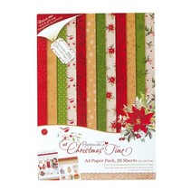 Designerblock, A4 Paper Pack, At Christmas Time