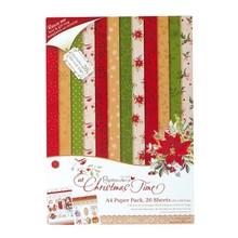 DESIGNER BLÖCKE  / DESIGNER PAPER Designersblock, A4 Paper Pack, At Christmastime
