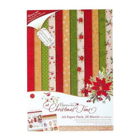 DESIGNER BLÖCKE  / DESIGNER PAPER Designersblock, A4 Papel Pack, En Navidad