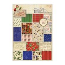 DESIGNER BLÖCKE  / DESIGNER PAPER Designersblock, A5 blocco di carta, una lettera a Babbo Natale