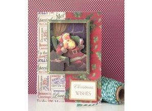 DESIGNER BLÖCKE  / DESIGNER PAPER Designersblock, A5 paper pad, a Letter to Santa