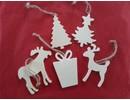 Objekten zum Dekorieren / objects for decorating 5 motivos diferentes de Navidad de madera + 1 madera EXTRA trineo!