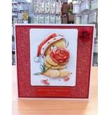 Forever Friends 4 x 3D udstanset ark A4 Forever Friends og 4 designer papir med julemotiver