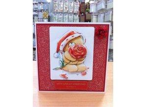 Forever Friends 4 x 3D foglio fustellato di A4 Forever Friends e carta 4 designer con motivi natalizi