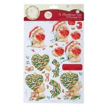 4 x 3D die cut sheet of A4 Forever Friends and 4 designer paper with Christmas motifs