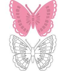 Marianne Design Collezione di Tiny farfalla 1, maschera + bollo
