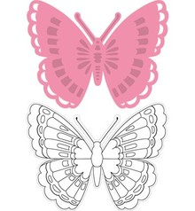 Marianne Design Indsamles Tiny s butterfly 1, maske + stempel