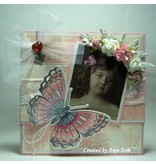 Marianne Design Collectable Tiny´s butterfly 1, Schablone + Stempel