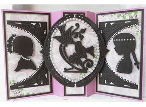 Marianne Design Creatables - Silhouette girl with hair up and with braided hair, 2 girls