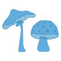 Stempelen en embossing stencil, Le Suh, champignons