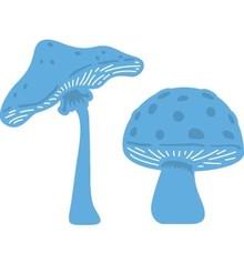 Marianne Design Stampaggio e goffratura stencil, Le Suh, funghi
