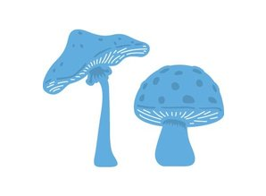 Marianne Design Stamping and Embossing stencil, Le Suh, mushrooms