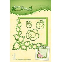 Stamping and Embossing stencil, frame with roses