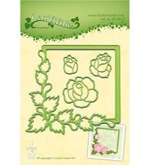Leane Creatief - Lea'bilities Stempling og prægning stencil, ramme med roser