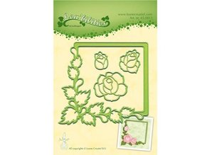 Leane Creatief - Lea'bilities Stamping and Embossing stencil, frame with roses