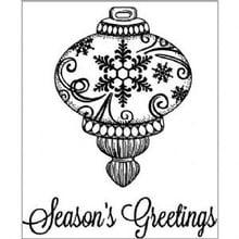 Creative Expressions Gummi-Stempel, Weihnachtskugel + Text