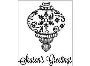 Creative Expressions Rubber stamps, Christmas ball + Text