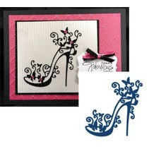 Stamping and punching template, Tattered Lace, punch template High Heel