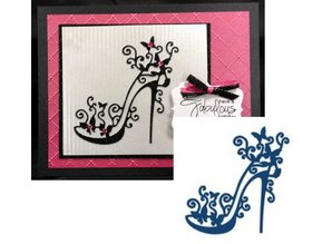 Tattered Lace Stamping and punching template, Tattered Lace, punch template High Heel