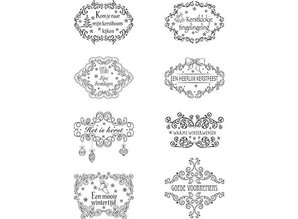 Marianne Design Clear Stamps, Christmas motifs Labels NL texts