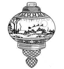 Creative Expressions Timbri, palla di Natale